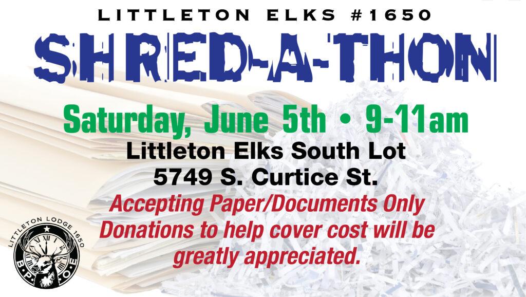 Shred-A-Thon @ Littleton Elks Lodge 1650   Littleton   Colorado   United States