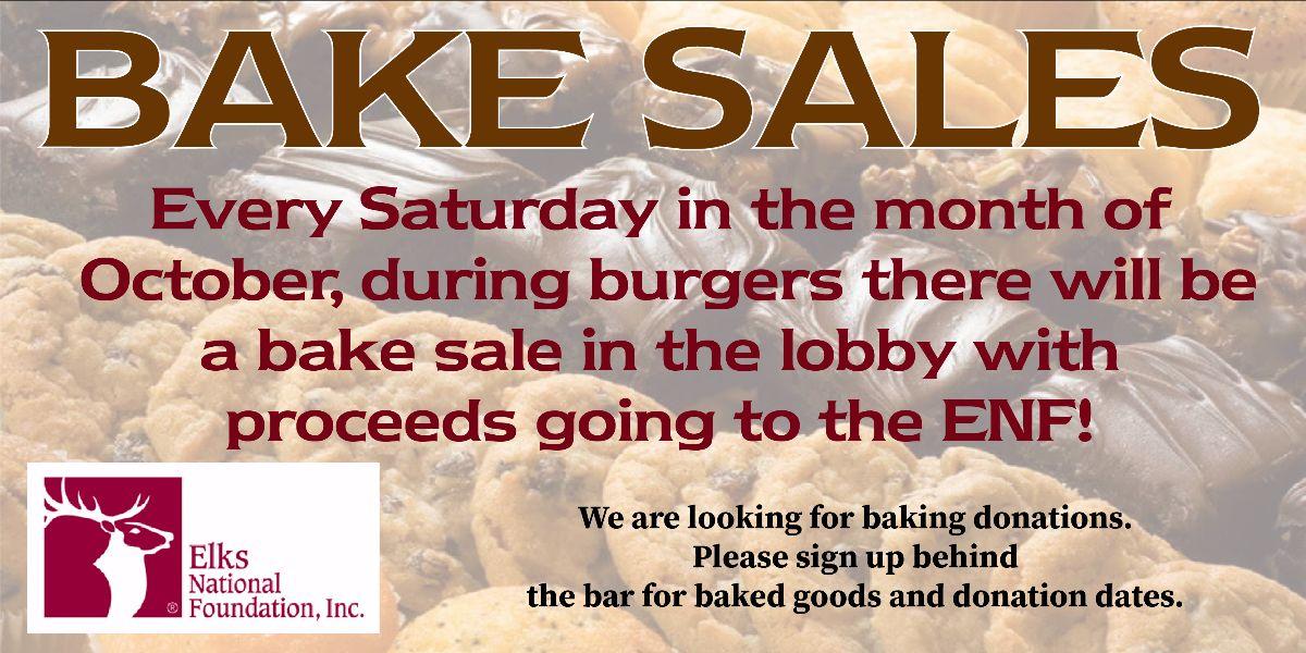 ENF Bake Sale @ Littleton Elks Lodge 1650   Littleton   Colorado   United States