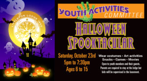 Halloween Spooktacular put on by the Elks Youth Committee